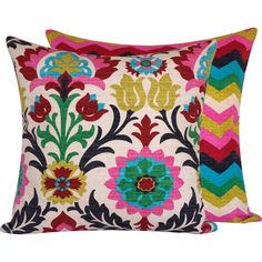 Floral Colorful Throw Pillow Cover 20x20 Decorative Zig Zag Chevron Medallion Mexican Sofa Pillow, Cinco de Mayo Collection by ChloeandOliveDotCom on Etsy https://www.etsy.com/listing/94919069/floral-colorful-throw-pillow-cover-20x20