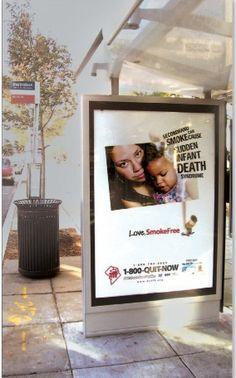 DCTFF Anti-Smoking Campaign Transit Signage