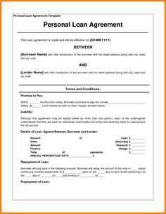 loan agreement letter this letter would probably be addressed to