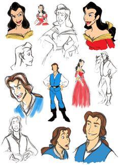 belle and gaston gender bender - disney-princess Fan Art