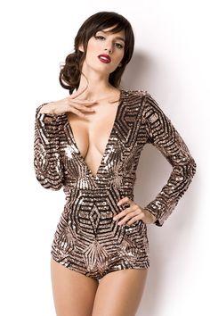 Trends, Clubwear, Overalls, Bodysuit, One Piece, Stars, Luxury, Diamond, Stylish