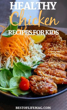 Use healthy chicken recipes for kids to help them enjoy healthy meals for lunch and dinner while you save time with these fast and easy recipes that are high in protein. Fast Easy Dinner, Fast Dinner Recipes, Fast Dinners, Fast Easy Meals, Delicious Dinner Recipes, Good Healthy Recipes, Lunch Recipes, Healthy Meals, Easy Recipes