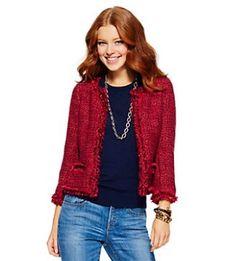 Red boxy jacket at C Wonder