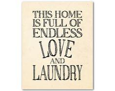 Laundry Wall Art laundry room decor - laundry rules clothespin - laundry wall art