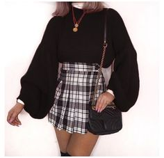 Winter Fashion Outfits, Girly Outfits, Mode Outfits, Cute Casual Outfits, Retro Outfits, Look Fashion, Sweater Fashion, Summer Outfits, Womens Fashion