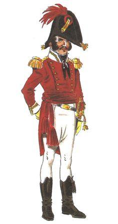 Regimiento de Las Cortes 1810-13 Capitán. By Denis Dighton