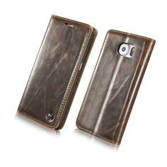 Caseme Unique Wallet Magnet Flip Cover Luxury Durable Leather Case For Samsung Galaxy Galaxy S6 / S6 Edge/ S6 Edge Plus