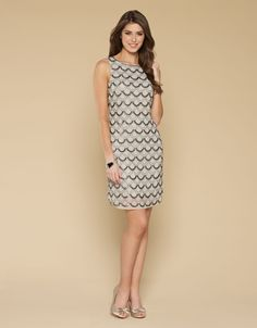 Daisy Diamond Dress | Grey | Monsoon