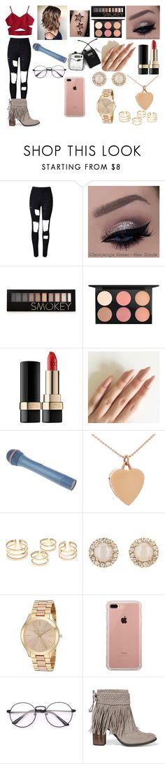 """""""what ifs (c)"""" by rochellepires22 on Polyvore featuring WithChic, Forever 21, MAC Cosmetics, Dolce&Gabbana, Jennifer Meyer Jewelry, Kate Spade, Michael Kors, Belkin and Schutz"""