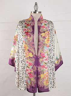 If you are looking for the best Plus Size Boho Chic to buy, quit looking and hear me out. I found out that JohnnyWas.com have some of the best Plus Size Boho Chic ever. Check out their collection and fell in love with the boho vibe, This is one of my favorites.The modern texture of this Eastern-inspired Johnny Was Kimono offers artfully printed silk designs. http://www.johnnywas.com/shop/womens/plus_sizes/
