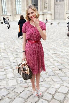 Nora Arnezeder Photos: Paris Fashion Week 2009 - Celebrity Sightings