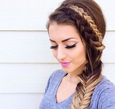 Today's post is mostly about hair styles! Are you looking to spruce up your main of hair! Love Hair, Gorgeous Hair, Pretty Hairstyles, Braided Hairstyles, Quick Hairstyles, Woman Hairstyles, Holiday Hairstyles, Everyday Hairstyles, Summer Hairstyles