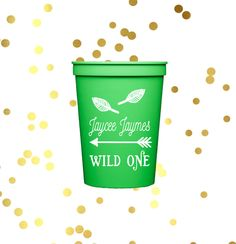 personalized plastic birthday cups, first birthday party cups, personalized…