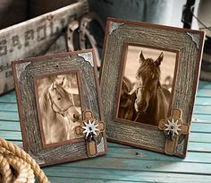 Western Barnwood Photo Frames