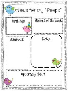 Monthly newsletters {Editable!} Love the simplicity of this one.