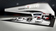 Estande da Audi no Salão do Automóvel 2012