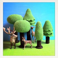 Sapins au crochet - Isabelle Kessedjian