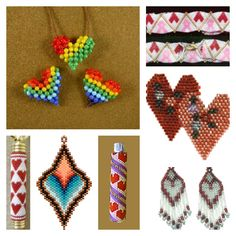 "Valentine ""Heart"" Beading Patterns at Bead Patterns.com"