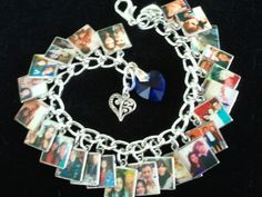 Custom Photo Charm Bracelet*Your pics*Personalized*BEAUTIFUL, Awesome Gift Idea from PipnBling Booth