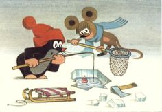 Krtek -  is an animated character in a series of cartoons, created by Czech animator Zdeněk Miler in 1956