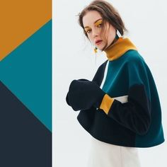Sweater alterations (selection) / Sweater or cardigan: second life / SECOND STREET Colour Combinations Fashion, Color Combinations For Clothes, Fashion Colours, Colorful Fashion, Color Combos, Color Harmony, Color Balance, Style Olivia Palermo, Look Fashion