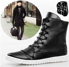 Winter mens boots I gotta have! Mens Shoes Boots, Leather Boots, Men's Shoes, Shoe Boots, Mens Garb, Handsome Black Men, Martin Boots, Sneaker Boots, Well Dressed Men
