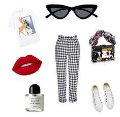 """Gigi Hadid Style"" by diamara-dostanova on Polyvore featuring мода, Topshop, Givenchy, Le Specs, Converse и Byredo"