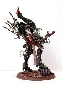 Warhammer Dark Elves, Warhammer Paint, Warhammer Models, Warhammer 40000, Eldar 40k, Dark Eldar, Fantasy Model, Dark Fantasy, 40k Armies