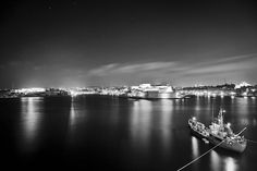 A calm night in Malta. The Valletta Grand Harbor. A unique naturally formed harbor put to good use by the knights of the order of St John.