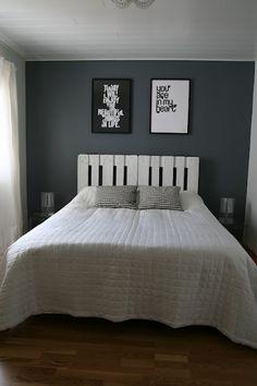 Sängynpääty vaihtolavoista Bedroom, Diy, Furniture, Design, Home Decor, Decoration Home, Bricolage, Room Decor