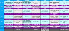 21 Day Fix Meal Plan #2! 1200 Calorie Plan, includes links to recipes!! #21dayfix Amy Allen Fitness