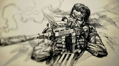Awesome Punisher sketch Art by Dike
