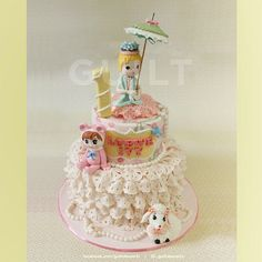Vintage Girl - Cake by Guilt Desserts