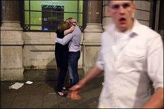 Photo by Maciej Dakowicz - Love and Hate! kiss and white shirt guy - Cardiff Cardiff, Photojournalism, Real Life, Hate, Kiss, How To Remove, Colour, Street, Friends