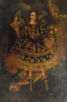 Cuzco Oil Painting Peru Folk Art 15 x 23 Archangel | eBay