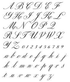 Alphabet Cursif, Style Alphabet, Fonte Alphabet, Caligraphy Alphabet, Tattoo Fonts Alphabet, Tattoo Lettering Fonts, Hand Lettering Alphabet, Alphabet In Cursive, Typography