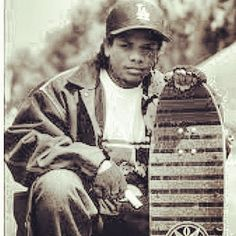 Rappers and Skaters have been together a lot longer than you think #TheStreets #Rap #Skate #SkateorDie #Thrasher #EazyE #RIPEazyE #GetTested #Thrash #Urban #Hood #Skateboarding #Deck #oldschool
