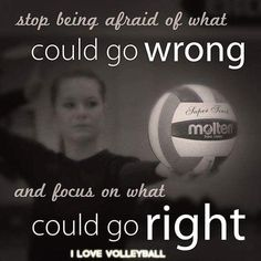 Reposted from @angchambers06 Focus on what could go right  #volleyball #quoteoftheday #quote #sports #character #vball #positive #like #love #instalove #instalike #igers #repost #ilovevolleyballpage #volleyjump