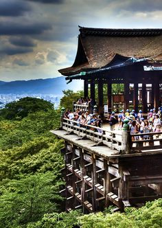 Kiyomizu Temple, Kyoto, Japan, where I traveled in 2004 with Katie Tuttle Caponigro. we observed a Buddhist service at this temple one night.