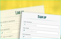 25 Free HTML5 And CSS3 Login Sign-Up Forms