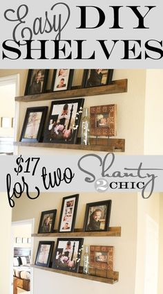 DIY shelves!  The perfect wood working project for beginners and so easy and cute! - These would look great in my entry.