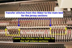 In this posting, I'll switch the gear and talk about a machine knitting stitch. There was a question on how to knit a half milano stitch on...