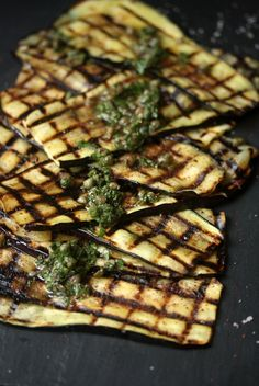 Grilled Eggplant with Sumac, Capers, and Mint #summerfest