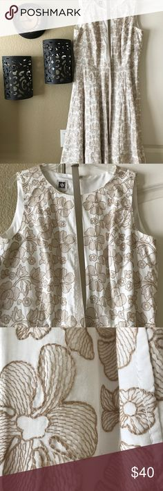 """Fancy Embroidered Anne Klein Dress Lovely """"wedding guest"""" or party dress. Worn once! Anne Klein Dresses"""