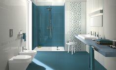 carrelage salle de bain bleu bondi blanc motifs-plan-vasque-assortie