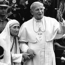 Madre Teresa vista pelo Papa João Paulo II...  :)