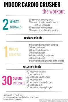 Cardio at home...for those times I have to squeeze cardio into my day