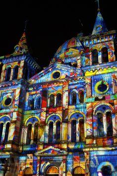 Light Move Festival vol 2 by Dominika Bogusz on 500px  #Poland #art #church #festival #lasers #light #lights #move #performance #Łódź