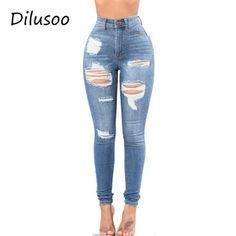 Jeans Tiro Alto Para Mujeres 2019