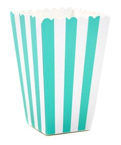 Love this Diamond Blue Stripe Popcorn Box - Set of 24 by Dress My Cupcake on #zulily! #zulilyfinds